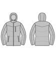 Winter jacket vector image vector image