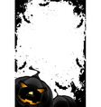 grungy halloween frame vector image