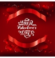 03 Banner hearts background vector image