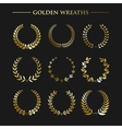 Set of golden wreaths vector image