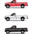 Pick-up trucks vector image