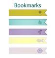 Bookmark icons pastel vector image