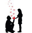 A man proposes a woman to marry vector image