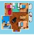 Architectural Floor Plan vector image