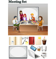 Business meeting with people in the room vector image