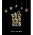 Christmas decoration with gift box vector image