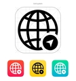 Globe Navigation icon vector image