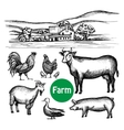 Hand Drawn Farm Set vector image