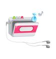 icon cassette vector image