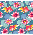 lily pattern fish vector image