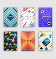 modern design cover collection vector image