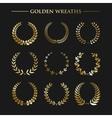 Set of golden wreaths vector image
