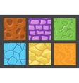 set of pattern for game background stone vector image
