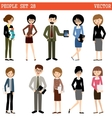 Set of people at office vector image
