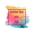 watercolor summer sale trip banner vector image