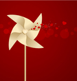 Windmill with heart vector image