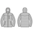 Winter jacket vector image