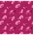 Pink poppy seamless pattern vector image