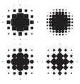 Halftone circles vector image