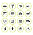 Set round icons of logistic vector image