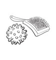 pet cat dog accessories - hair grooming brush vector image