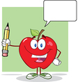 smart teacher apple and student vector image vector image