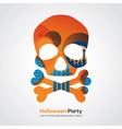 Halloween Party Skull vector image