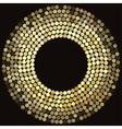 Golden disco lights frame vector image