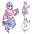 Robot Woman Chef Cartoon Character vector image