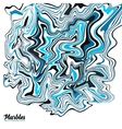 Black white and blue marble style abstract vector image vector image