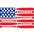 American flag made of bats and balls vector image