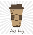 coffee take away vector image