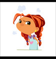 digital funny cartoon sad young vector image