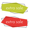extra sale green and red banner vector image