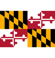 flag of maryland usa vector image
