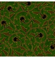 Seamless floral dark green damask pattern vector image