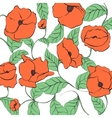 Stylized Poppy vector image
