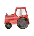 tractor farming icon image vector image