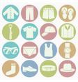 white icons gent clothes vector image