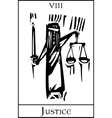 Tarot Card Justice vector image vector image