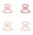 Set of stickers hat Lincoln on white background vector image