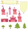 Set of Castle Design Elements vector image vector image