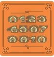 Set Of Retro Numbers vector image