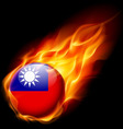 Round glossy icon of taiwan vector image