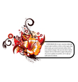 Abstract floral frame vector image