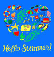 background with beach holidays travel vacation vector image