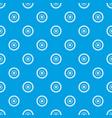 gear wheel pattern seamless blue vector image