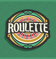 logo for roulette gamble vector image