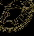 medieval astronomical clock vector image