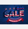memorial day sale vector image